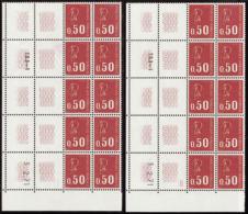 N° 1 664 0,50 M. De Béquet 3-2-71 à Gauche Les 2 Galvanos  Qualité: ** Cote: 1530 - Francobolli