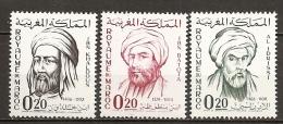 1963 - N° 456 à 458** MNH - Réunion De La Commission De L'UNESCO - Maroc (1956-...)
