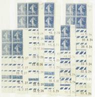N° 1 40 25c Semeuse Bleu Collection De 35 Coins Datés  Qualité: * Cote: 1610 - Francobolli