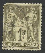 France, 1 F. 1876, Sc # 76, Mi # 67I, Used - 1876-1878 Sage (Type I)