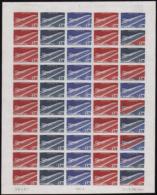 N° 4 9 1f70 Concorde Feuille De 50 Timbres  Qualité: ** Cote: 9410 - Non Classificati
