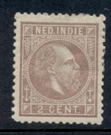 Nederlands Indië - 1876 - 2 Cent Willem III NVPH 5F, Lilabruin Zonder Gom - No Gum - Nederlands-Indië