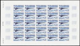 N° 1 969 Concorde 7 Valeurs Non Dentelées En Feuilles De 25t  Qualité: ** Cote: 17000 - Francobolli