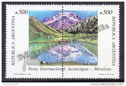 Argentina 1990 Yvert 1713- 14, Aconcagua, Mendoza International Fair - MNH - Nuevos