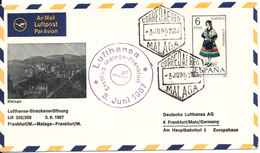 Spain Cover First Lufthansa Flight Frankfurt - Malaga - Frankfurt LH 358/359 3-6-1967 - 1931-Heute: 2. Rep. - ... Juan Carlos I