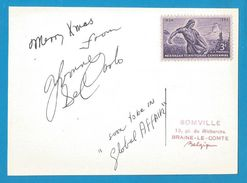 """(A648a) - Signature / Dédicace / Autographe Original - DE CARLO Yvonne - Actrice Américaine - """"Global Affair"""" 1964 - Autographes"""