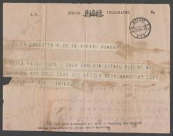 India KG V  1915  Opium  Matter  Telegram   #  96967   Inde - Inde (...-1947)