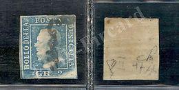 SICILIA-1859-II Tavola-2 Grana Azzurro(7-Palermo)POS.47-U - Sicilia