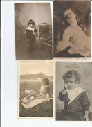 LOT 44 CARTES PERSONNAGES - Postcards