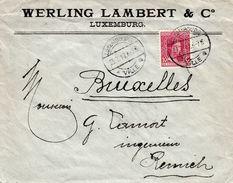 Lochung  W. L. Der Werling Lambert & C°, Auf Brief - Luxembourg