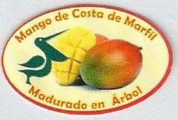 # MANGO COSTA DE MARFIL Africa Fruit Sticker Label Etichette Etiquettes Adhesive Aufkleber Fruta Frucht Pelican Pelikan - Fruits & Vegetables