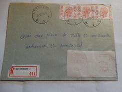 A Partir De Vilvorde Le 20/12/78 En Recommandé. - Franking Machines