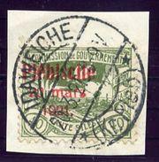 UPPER SILESIA 1921 Plebiscite Overprint On 40 Pfg. Used.  Michel 35 - Deutschland