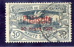UPPER SILESIA 1921 Plebiscite Overprint On 50 Pfg. Used.  Michel 36 - Germany