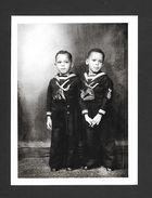 ENFANTS - BOYS IN SAILOR SUITS 1935 - 6½ X 4¾ Po - 16½ X 12 Cm - PHOTO JAMES VAN DER ZEE - Portraits