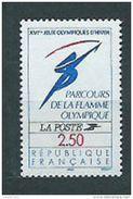 Timbre France  1992 Yvert 2732 Parcours De La Flamme Olympique XVIe Jeux Olympiques D'hiver - Nuevos