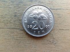 Malaysie  20  Sen  2000  Km 52 - Malaysie