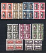"""Österreich 1919/21:  4er-Block """"Parlament""""  284/92 Kpl.Satz Postfrisch Luxus (siehe Foto/Scan) - 1918-1945 1. Republik"""
