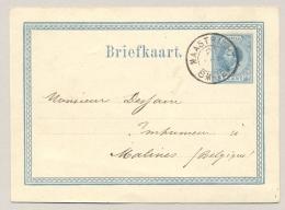 Nederland - 1874 - 5 Cent Willem III, Briefkaart G8 - Van Maastricht Naar Malines / België - Entiers Postaux
