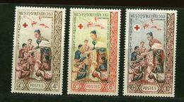 Laos ** N° 90 à 92 - Cent. De La Croix-Rouge - Laos