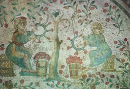 Piazza Armerina - Bedroom Of The Childs Hunters - Detail.  Italy.   # 06920 - Unclassified