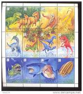 DOMINICA   1803   9515  MINT NEVER HINGED MINI SHEET OF DINOSAURS   #   M-085  ( - Briefmarken