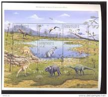 DOMINICA     2138 * MINT NEVER HINGED MINI SHEET OF DINOSAURS - Briefmarken