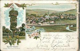 AK Eppelborn, Gruss Aus Litho, O 1901, Briefmarke Entfernt, Fleckig, Rechter Rand Oxidiert (dunkel), Bestoßen (17048) - Kreis Neunkirchen