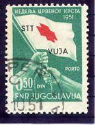 TRIESTE ZONE B 1951 Red Cross  Tax Due Stamp Used.  Michel 3 - 7. Trieste