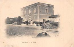 Aïn Sefra Gare Avec Train Wilaya Naâma - Algérie