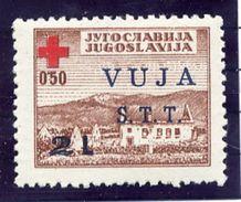 TRIESTE ZONE B 1948 Red Cross  Postal Tax Stamp LHM / *.  Michel 1 - 7. Trieste