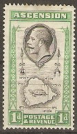 Ascension Islands 1924 SG 11 1d Mounted Mint - Ascension