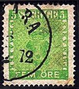 SU 12 - SUEDE 1 Timbre  N° 6 Oblitéré - Oblitérés