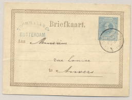 Nederland - 1876 - 5 Cent Willem III, Briefkaart G11 Van Rotterdam Naar Anvers / België - Postal Stationery