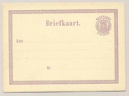 Nederland - 1876 - 2,5 Cent Cijfer, Briefkaart G12 - Ongebruikt / Unused - Material Postal