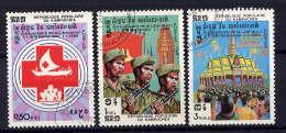 KAMPUCHEA - 436/438° - 5è ANNIVERSAIRE DE LA LIBERATION NATIONALE - Kampuchea
