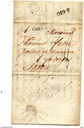 LETTRE 1819  GRENOBLE  CACHET ROUGE  POUR FAVERGES - 1801-1848: Précurseurs XIX