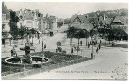 14 : DEAVILLE - LA PLAGE FLEURIE - PLACE MORNY (LL) - Deauville