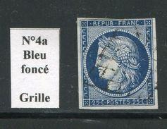 FRANCE- Y&T N°4a)- Bleu Foncé- Oblitération Grille - 1849-1850 Cérès