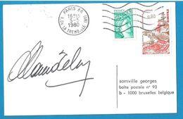 (A659a) - Signature / Dédicace / Autographe Original - Alain DELON - Acteur Et Homme D'affaires - Autographs