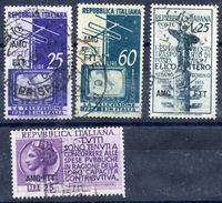 TRIESTE ZONE A 1954 Three Commemorative Issues Used.  Michel 228-29, 230, 231 - 7. Trieste