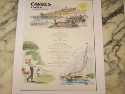 ANCIENNE PUBLICITE VOYAGE CANNES L HIVER 1961 - Advertising