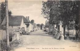 10 - AUBE / Trainel - 10011 - La Rue De La Basse Borde - Beau Cliché Animé - Altri Comuni