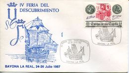 23670 Spain, Special Postmark 1987 Bayona La Real ,  Columbus , Coulomb, Colon, - Christopher Columbus