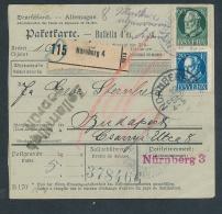 Bayern- Paket Karte ..  - Netter  Beleg  .( T3953 ) Siehe Scan - Beieren