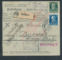 Bayern- Paket Karte ..  - Netter  Beleg  .( T3953 ) Siehe Scan - Bayern (Baviera)