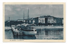 LA SPEZIA - LA BANCHINA 1928 VIAGGIATA  FP - La Spezia