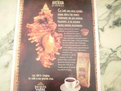 ANCIENNE PUBLICITE CAFE JACQUE VABRE ANTIGUA 1981 - Posters