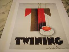 ANCIENNE PUBLICITE ART DECO DE C. LOUPOT THE TWINING 1930 - Posters