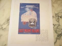 ANCIENNE PUBLICITE LAIT MONT BLANC 1935 - Posters